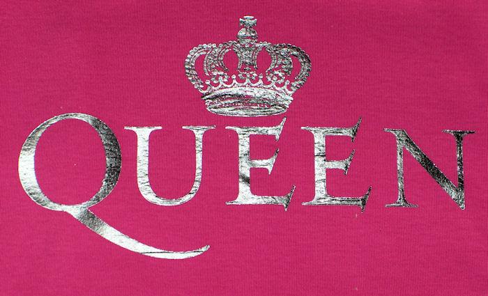 queen crown pink ladies fitted tshirt